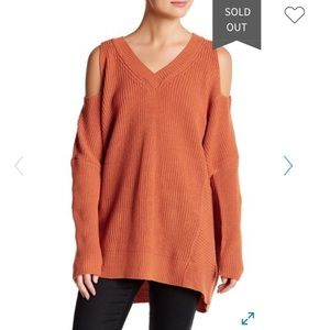 Anthro Ro&De Cold Shoulder Pullover Sweater